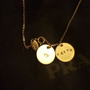 Nashelle 14K Classic gold Coin stamp Necklace